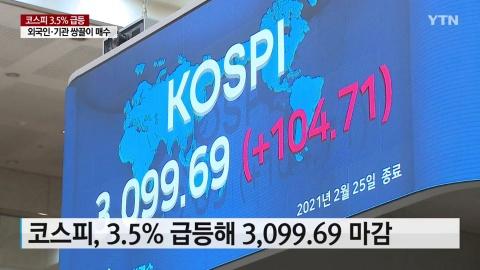 [02/25] [경제] 코스피 3.5% 급등...외국인·기관 쌍끌이 매수